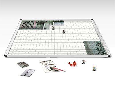The A1-GAMERBOARD: Perfect for tabletop miniature games. Keeps map and map tiles in position. Magnets for the miniatures.