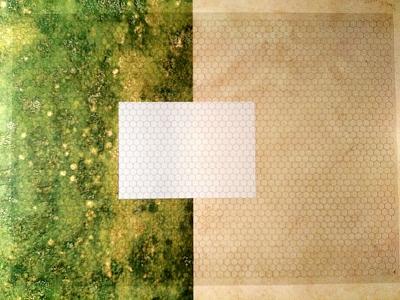 Transparent Grid Sheet A1 (84,1 x 59,4 cm) Hexagon 15 mm