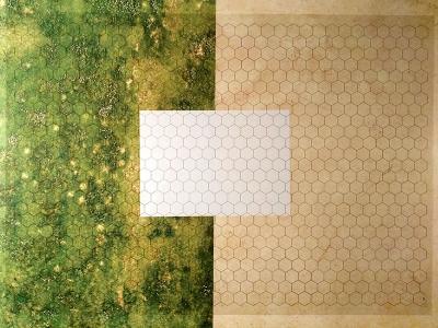 Transparent Grid Sheet A1 (84,1 x 59,4 cm) Hexagon 1 Inch