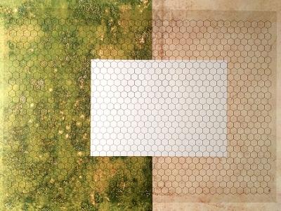Transparent Grid Sheet A2 (59,4 x 42,0 cm) Hexagon 15 mm