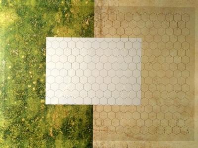 Transparent Grid Sheet A2 (59,4 x 42,0 cm) Hexagon 1 Inch