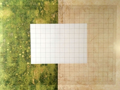 Transparent Grid Sheet A2 (59,4 x 42,0 cm) Quadratic 1 Inch