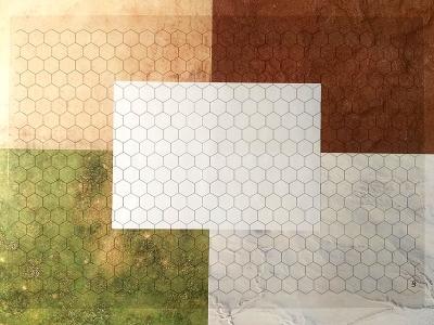 Rasterfolie transparent A3 (42,0 x 29,7 cm) Hexagon 16 mm