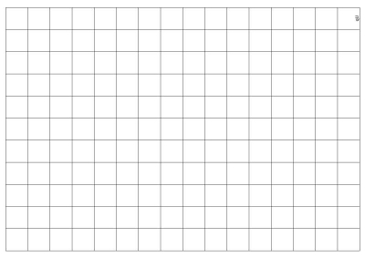 Transparent Grid Sheet A3 (42,0 x 29,7 cm) Quadratic 1 Inch
