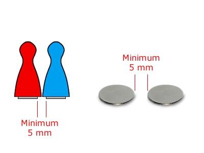20 Magnete, rund, 15 x 1 mm, selbstklebend