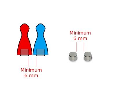 10 Magnete, rund, 6 x 2 mm