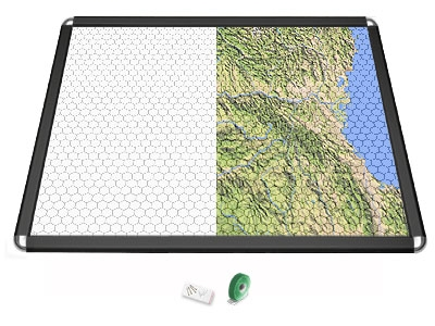 Gamerboard A1 (Rounded Corners) black with Grid