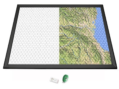 Gamerboard A1 (Mitred Corners) black with Grid