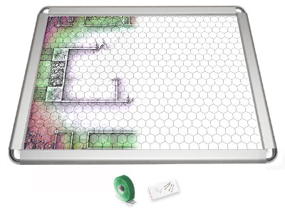Gamerboard A2 (Rounded Corners) with Grid