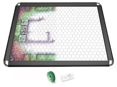 Gamerboard A2 (Rounded Corners) black with Grid