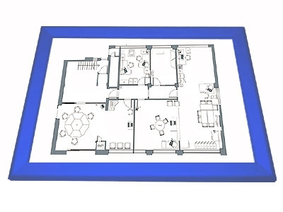 Gamerboard A3 (Mitred Corners) ultramarine blue with Accessories