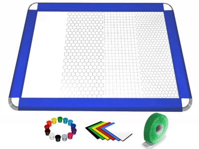 Gamerboard A3 (Rounded Corners) ultramarine blue with Accessories