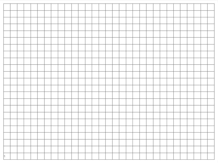 transparent grid sheet a1 quadratic 1 inch