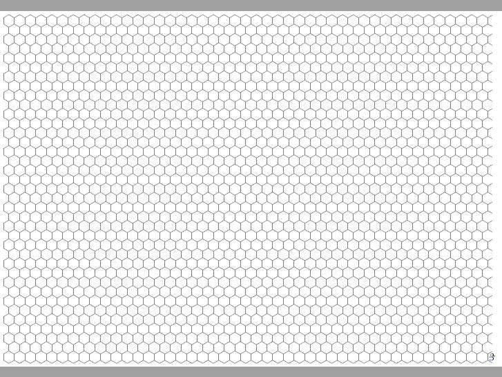 Transparent Grid Sheet A3 Hexagon 9 mm