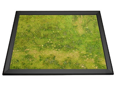 Gamerboard A2 (Mitred Corners) black with Grid