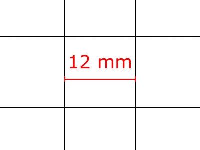 Rasterfolie transparent A3 (42,0 x 29,7 cm) quadratisch 12 mm