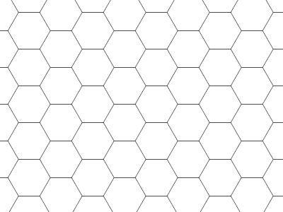 Transparent Grid Sheet A3 Hexagon 12 Mm - Gamerboard For Pen-And