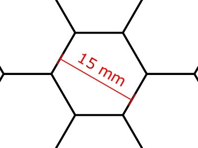 Transparent Grid Sheet A2 Hexagon 15 mm