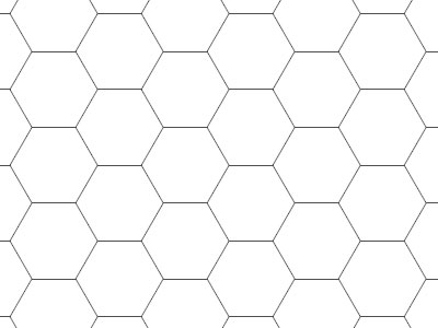 Transparent Grid Sheet A3 Hexagon 16 Mm - Gamerboard For Pen-And