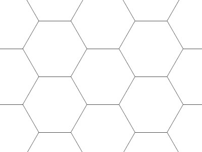SALE! Transparent Grid Sheet A1 (84,1 x 59,4 cm) Hexagon 1 Inch