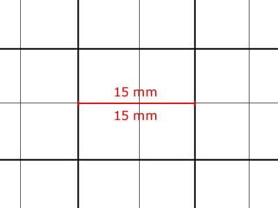Transparent Grid Sheet A2 (59,4 x 42,0 cm) Quadratic 15 mm
