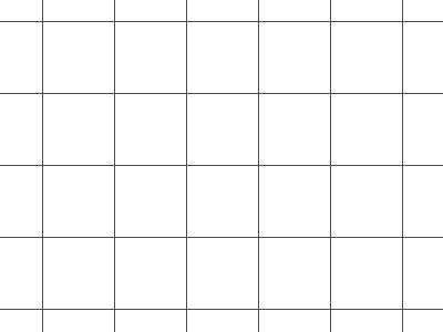 Transparent Grid Sheet A1 Quadratic 15 mm