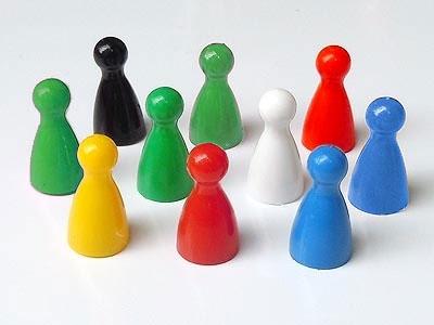 10 Magnet-Kegel, in verschiedenen Farben nach Wahl, 12 x 24 mm
