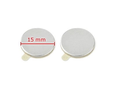 20 Magnets, round, 15 x 1 mm, selfadhesive