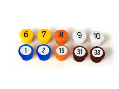 13 Magnet-Buttons, bunt, 10 mm