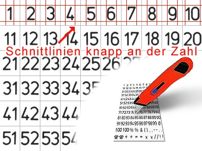 Self Adhesive Numbers 1-100, Plastic