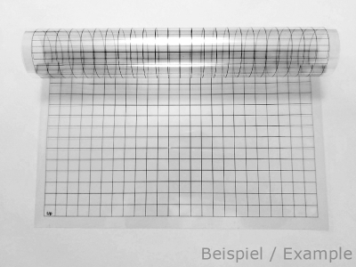 Rasterfolie transparent A3 (42,0 x 29,7 cm) quadratisch 1 Zoll