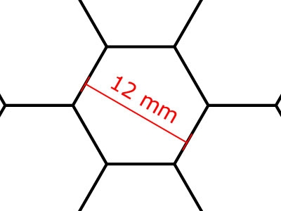 Transparent Grid Sheet A3 (42,0 x 29,7 cm) Hexagon 12 mm