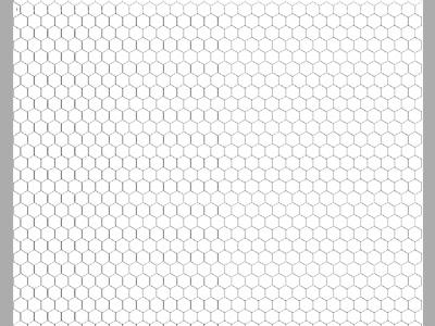Transparent Grid Sheet Hexagon 24x30 Inch