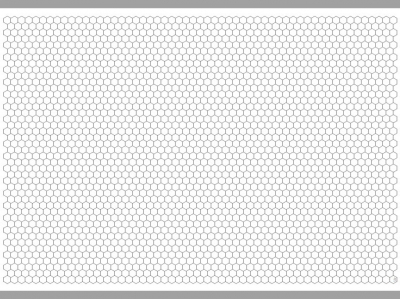 Transparent Grid Sheet A1 (84,1 x 59,4 cm) Hexagon 15 mm