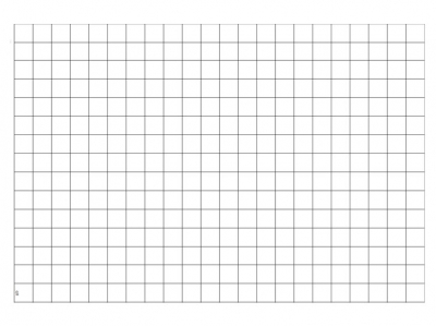 Transparent Grid Sheet A2 Quadratic 1 Inch