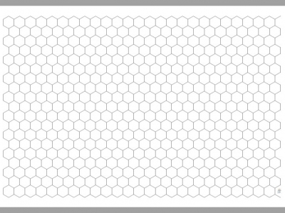 Transparent Grid Sheet A3 Hexagon 16 mm