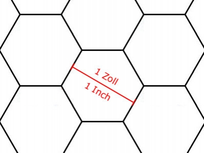 Transparent Grid Sheet A1 Hexagon 1 Inch