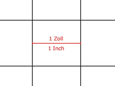 Transparent Grid Sheet A3 Quadratic 1 Inch