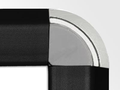 Gamerboard A1 (runde Ecken) schwarz mit Raster