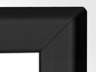 Gamerboard A2 (spitze Ecken) schwarz mit Raster