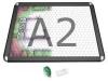 Gamerboard A2 (runde Ecken) schwarz mit Raster