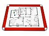 Gamerboard A3 (Rounded Corners) red with Accessories