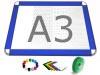 Gamerboard A3 (runde Ecken) ultramarin-blau mit Zubehör