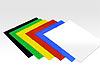 Magnetfolien, 6 Farben im Set, diverse Größen