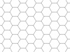 Transparent Grid Sheet A3 Hexagon 12 mm