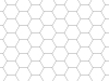 Rasterfolie transparent A2 (59,4 x 42,0 cm) Hexagon 12 mm