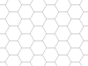 Transparent Grid Sheet A1 Hexagon 15 mm