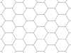 Rasterfolie transparent A3 (42,0 x 29,7 cm) Hexagon 16 mm