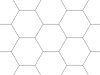 Rasterfolie transparent A1 (84,1 x 59,4 cm) Hexagon 1 Zoll