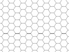 Transparent Grid Sheet A3 Hexagon 9 mm